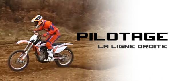 PILOTAGE MX: La ligne droite