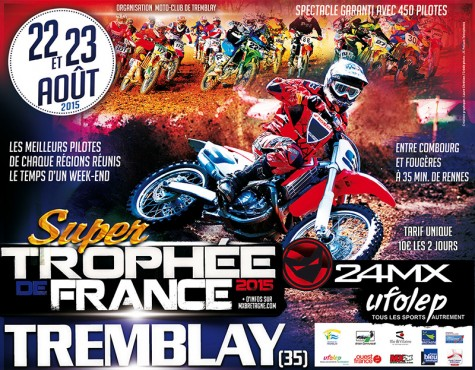 COMMUNIQUE: Super Trophée de France UFOLEP « 24MX » Tremblay 2015