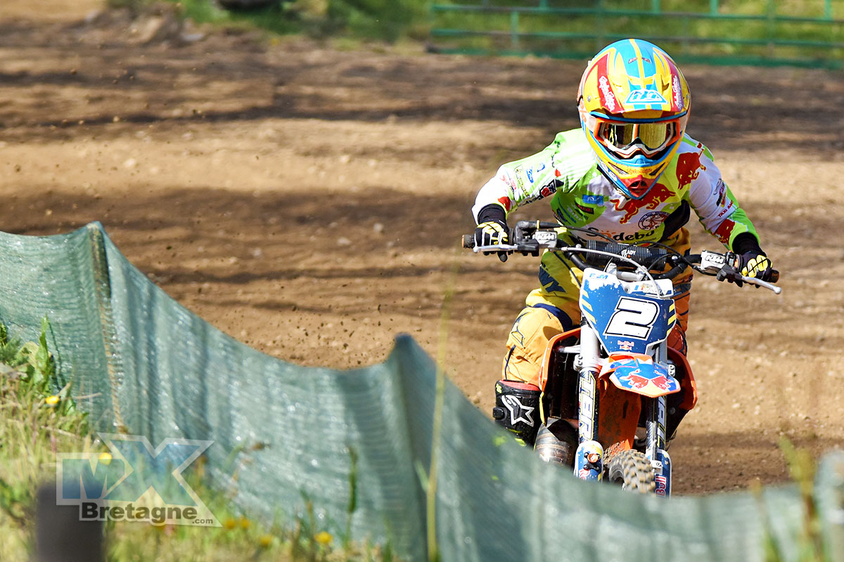 Mathis Valin était en 50cc en 2016. Photo Jeremy Jagu/Mx Bretagne