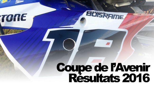 COUPE DE L'AVENIR '16: Les résultats