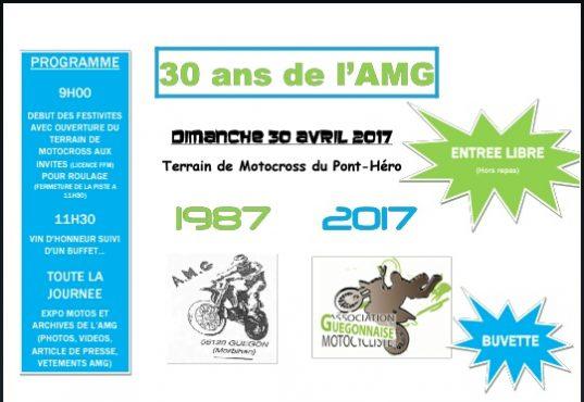 Ce week-end l'AMG fête ses 30 ans !