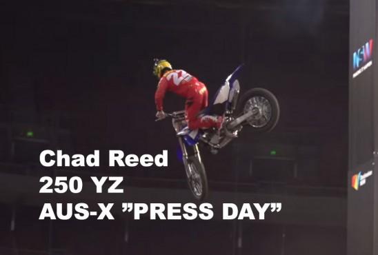 WAAAKKK: Chad Reed sur la 250 YZ au Press Day AUS-X