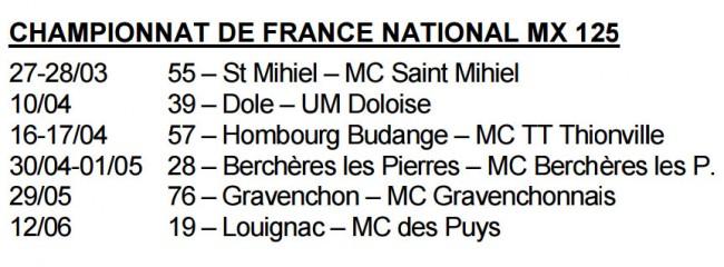 Le retour du Championnat de France 125